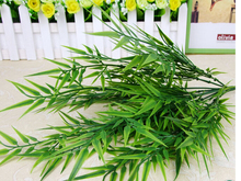 Artificial bamboo leaf with stem fake slik plants for Wedding Party Home Decoration gift craft   MA1669