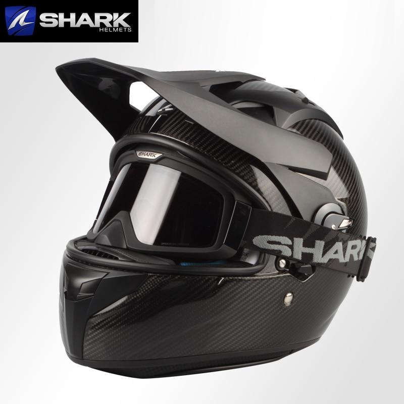 Origine Shark Explorer R Casque Motocross Offroad Croix Carbone Peka