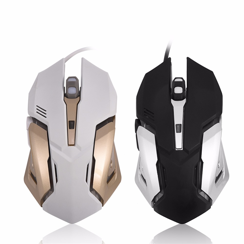 USB Wired Gaming Mouse Mice 6 Buttons 4 Adjustable DPI Colorful LED Breathing Light