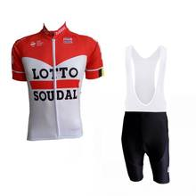 2018 red Pro team lotto soudal cycling jersey ropa Ciclismo summer MTB maillot quick dry bike clothing GEL pad(China)