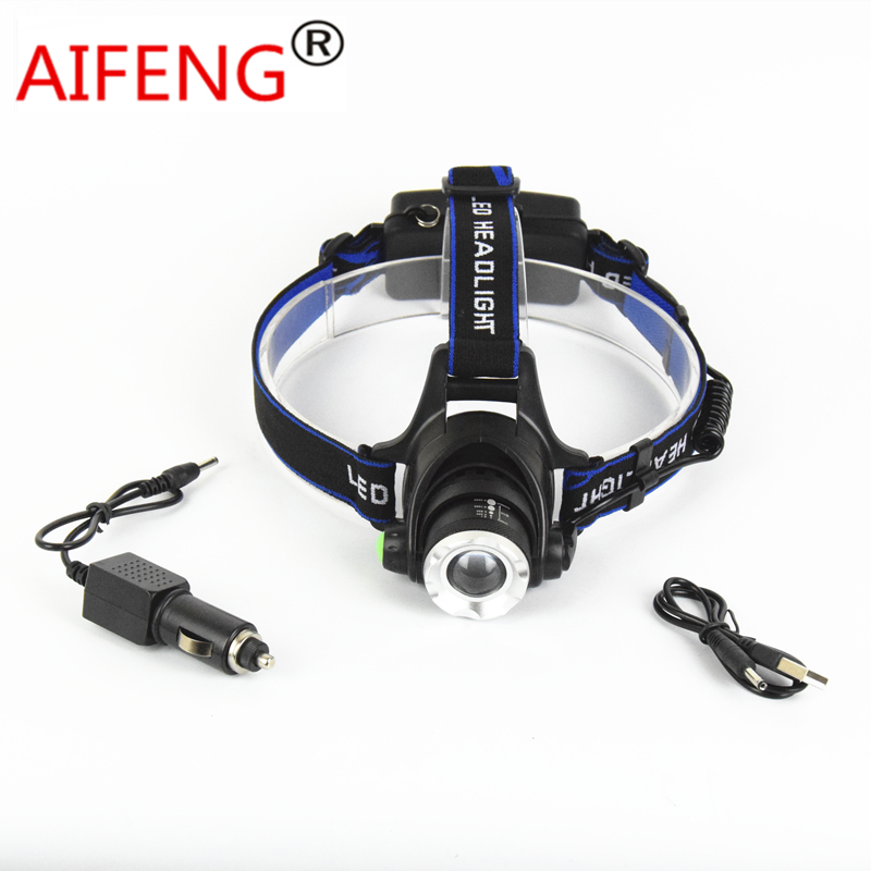 led headlamp 18650 T6 xm l t6 rechargeable head lamp ...