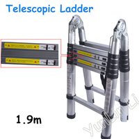 5pcs Lot 1 9M 1 9M Aluminum Telescopic Ladder With Joint For Industrial Or Household