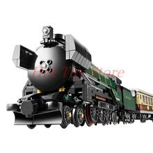 In Stock LEPIN 21005 1085Pcs Technic Series Emerald Night Train Model Building Kit Minifigures Bricks Compatible