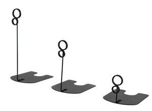 Image 5 - 50 ピース高さ 5/10/15 センチゴールド銀色黒食品店ポップ金属卓上サインクリップ価格タグ名刺クリップラベルホルダースタンドクランプ