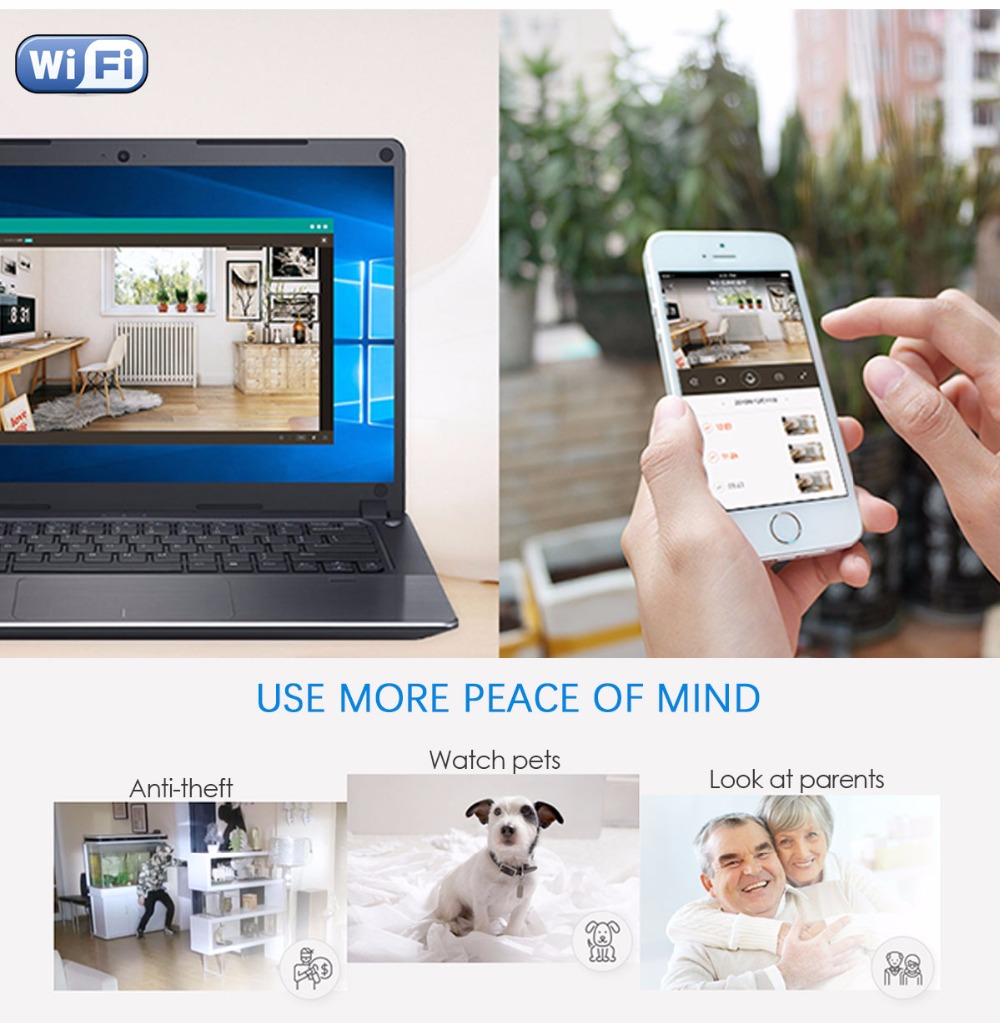 HD 1080P Wide Angle WIFI Mini Camera And Webcam With Motion Activated DV Camcorder 4
