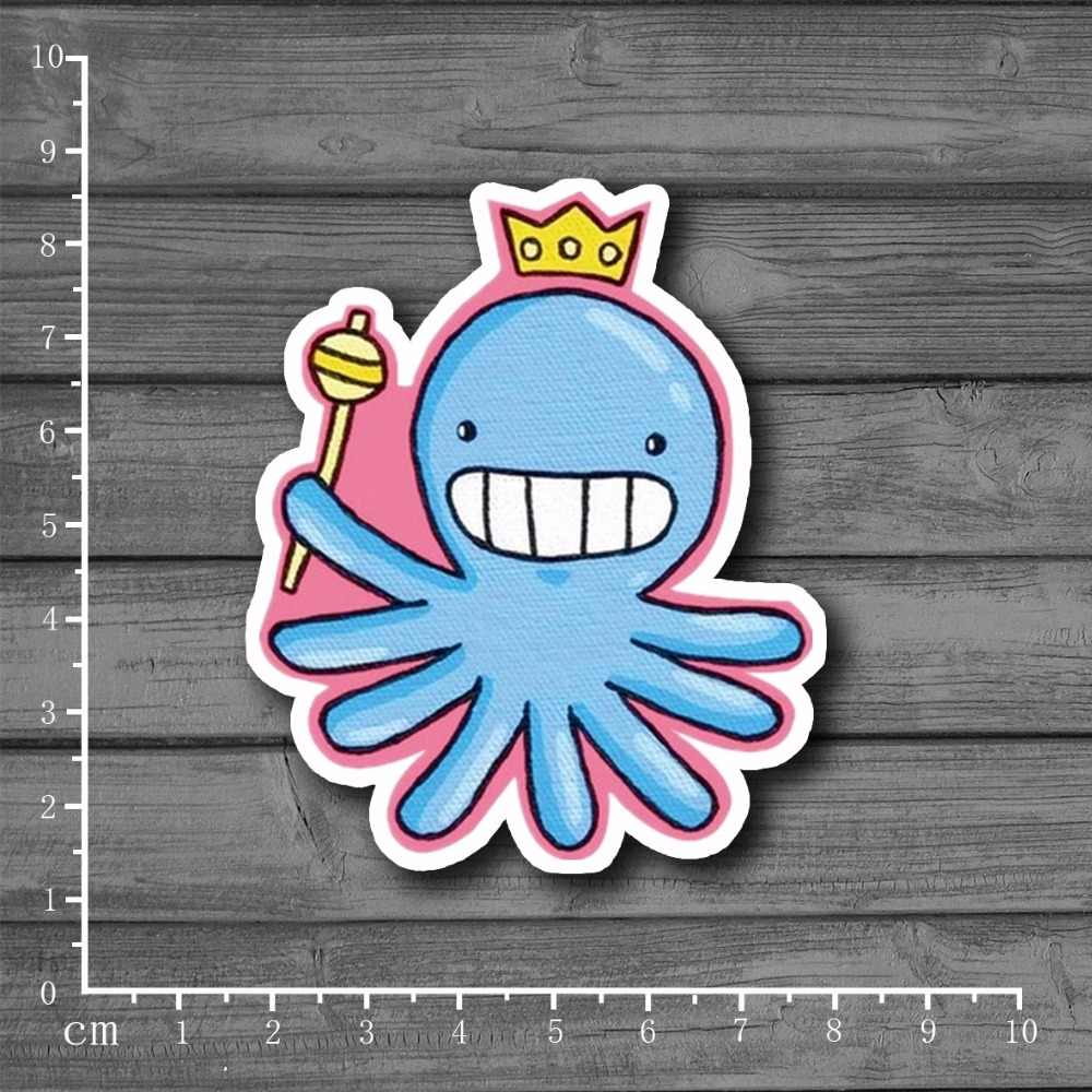 Octopus Koningin Waterdichte Briefpapier Stickers Op Notebook Laptop Huid Koffer Bagage Tij Merk Kids Speelgoed Stickers [Single]