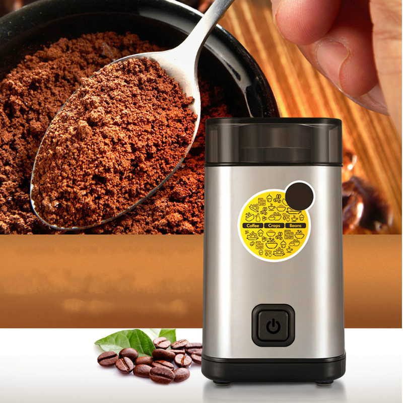 Coffee Grinders Ground bean grinder electric coffee grinding machine household small stainless steel женские футболки zhenzu футбольные бутсы superfly original indoor soccer cleats обувь кроссовки chaussure de foot voetbalschoenen
