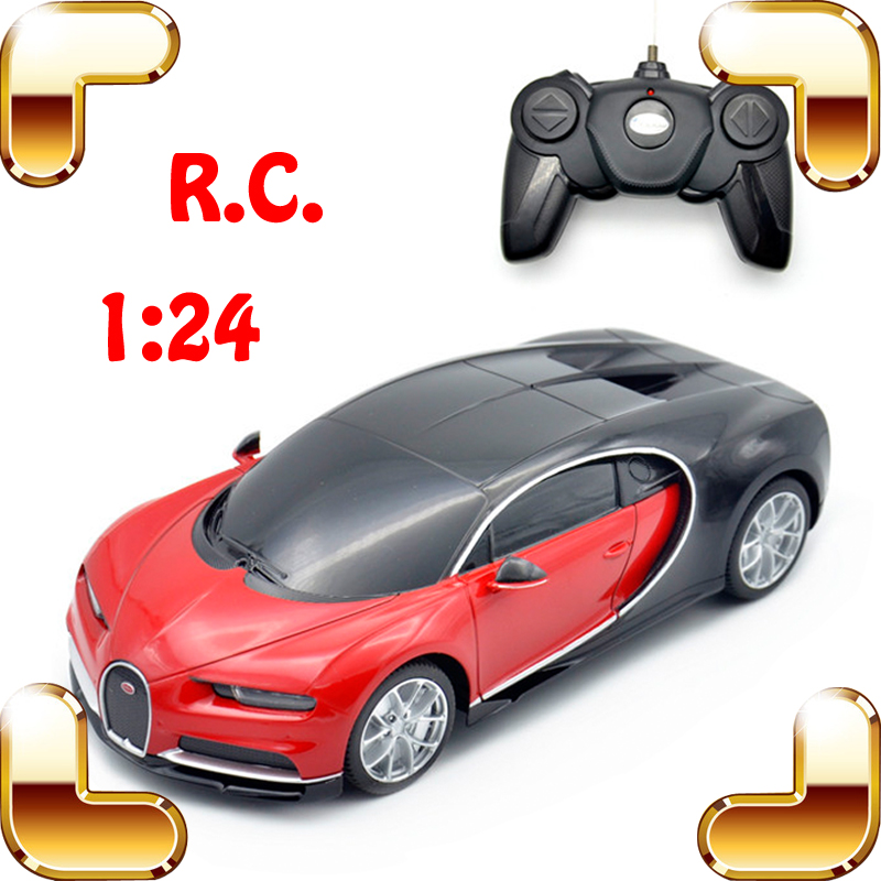 Hotsale 1/24 Bugatti Veyron RC Car King Of Road Model Racing speed Voiture Auto Vehicle with color Box Best Gift Present Toys