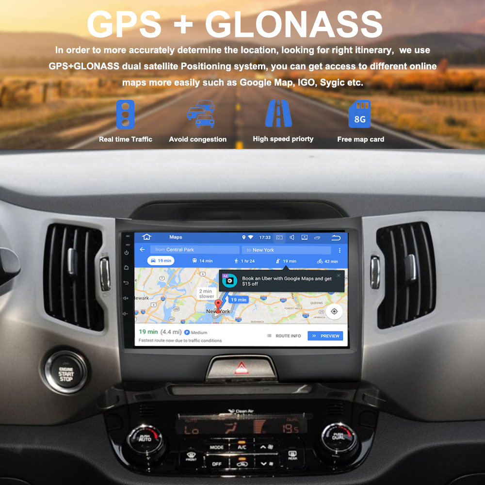 Car 2 din android 9 0 GPS for KIA Sportage r 2011 2012 2013 2015 autoradio