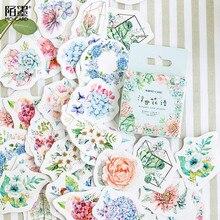 Mo. linguaggio dei fiori di Carta mini diario di carta sticker Scrapbooking etichetta Della Decorazione 1 lotto = 1 pacchetto = 45 pcs