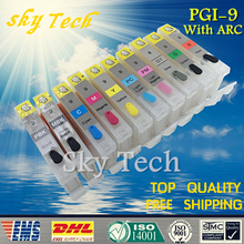 Empty Refillable ink Cartridge PGI9 Suit for Canon pro 9500 printer ,Suit for Canon PGI-9 , With ARC Chips