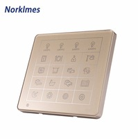 Norklmes 7 inch large size capacitive touch screen switch surface waterproof scratch full house lighting control wall switch bot