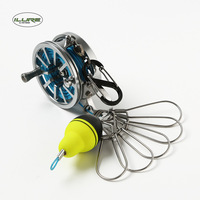 iLURE Lock Fish Buckle Waist Hanging Flexible Fishing Reel Controller Portable Tools Stainless Steel Hollow Wire Cup Buoy