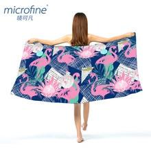 Microfine Flamingo Beach Towel Microfiber Dewasa Gym Sport Towe Robe Yoga Mat Large Kartun Animal Outdoor Blanket Untuk anak 2018