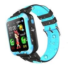 E7 Espanson Crianças GPS Relógio Inteligente Com Câmera De Segurança Anti perdido SOS Para ISO Android Super longa espera à prova d' água do bebê relógio