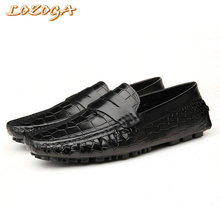 New luxury design mens casual shoes flats Italian handmade genuine leather crocodile shoes driving shoes slip-on basic shoes