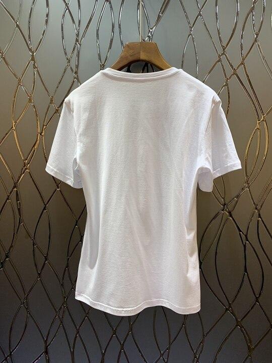 Avec Poitrine Motif Et 0319 Imprimé shirt Col Printemps Nouvelle Femme Rond T De D'été 2019 Top Blanc z7OZw