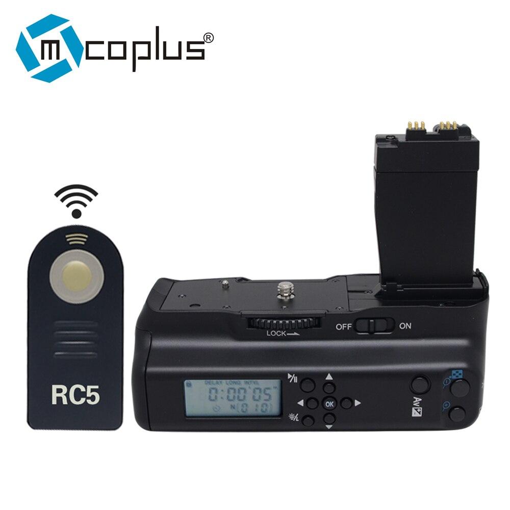 Mcoplus VD-550DL professionnel LCD minuterie batterie poignée pour Canon EOS 550D 600D 650D 700D/rebelle T2i T3i T4i T5i appareil photo numérique