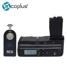 Mcoplus VD-550DL profissional lcd temporizador aperto da bateria para canon eos 550d 600d 650d 700d/rebel t2i t3i t4i t5i câmera digital