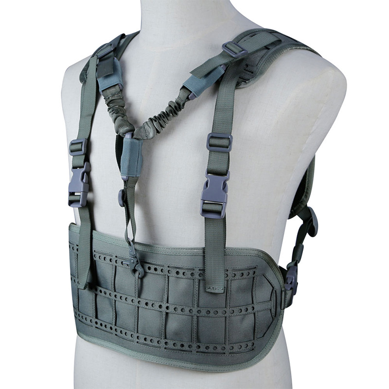 TACTIFANS Ultra Light Laser Cut MOLLE Chest Rig Pals System Military Equipment Tactical Ultra Light Tactical Vest