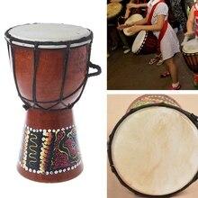 1 шт. 4 дюймов Профессиональный Африканский Djembe барабан Bongo дерево хороший звук музыкальный инструмент