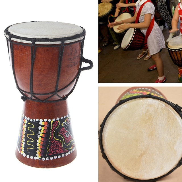 Professional Wooden African Drum