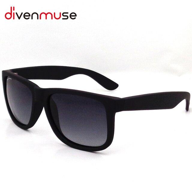 Justin Marco Polarizado gafas de Sol Arena Revestimiento De Caucho Negro Gardient Lente Las gafas de Sol de Los Hombres Diseñador de la Marca Gafas de Sol