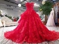 CloverBridal kırmızı sevgiliye dantel gelin elbiseleri 2017 ücretsiz tailor made gelinlik tasarımları robe de mariee boncuklu aplikler