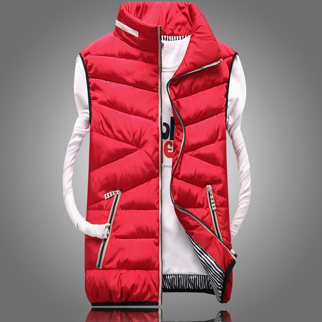 2016 primavera outono nova versão Coreana de Lazer grandes estaleiros Imitação para baixo algodão homens venda quente Engrossado colete barato por atacado