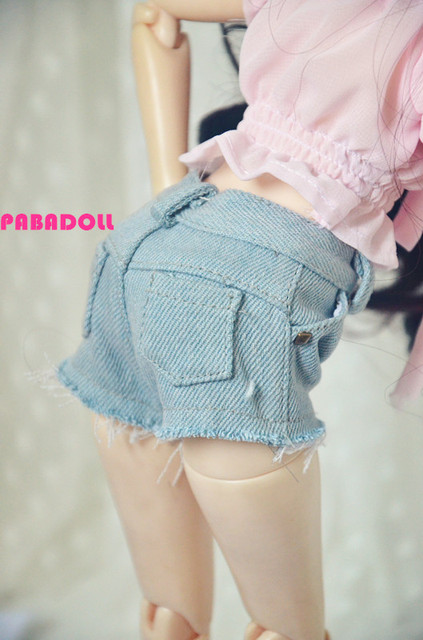 Sexy Pocket  Short pants Jeans Shorts  for BJD Doll 1/4 MSD,1/3 SD13 SD16 SD DOD AS LUTS DZ  Doll Clothes CWB55
