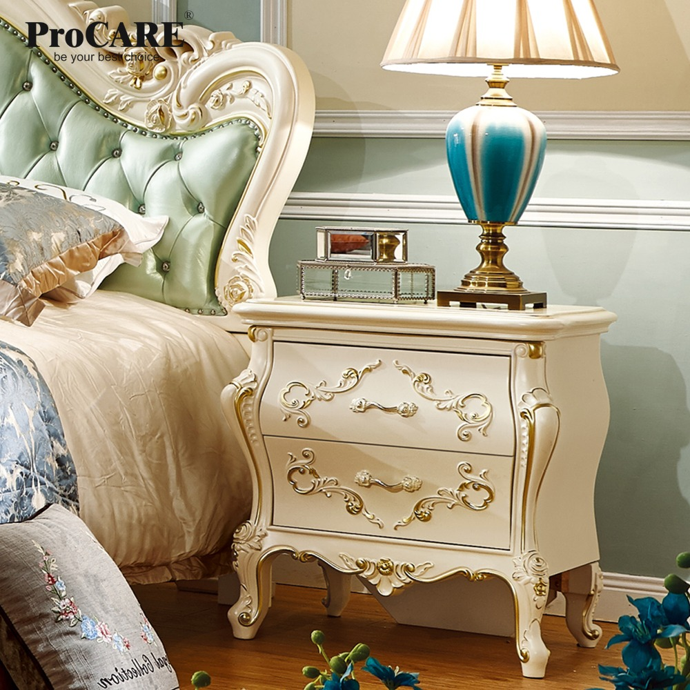 US $126.0 |luxury European and American style bedroom furniture rose series  french Bedside Cabinets/table With Gold-in Bedroom Sets from Furniture on  ...