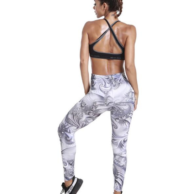 Fashion Women spring and summer new European and American printing stretch pants pants leggings fitness legging legins mujer