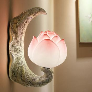 Creative wall lamp study background wall corridor aisle garden balcony decoration bedside stairs lotus led wall lamp