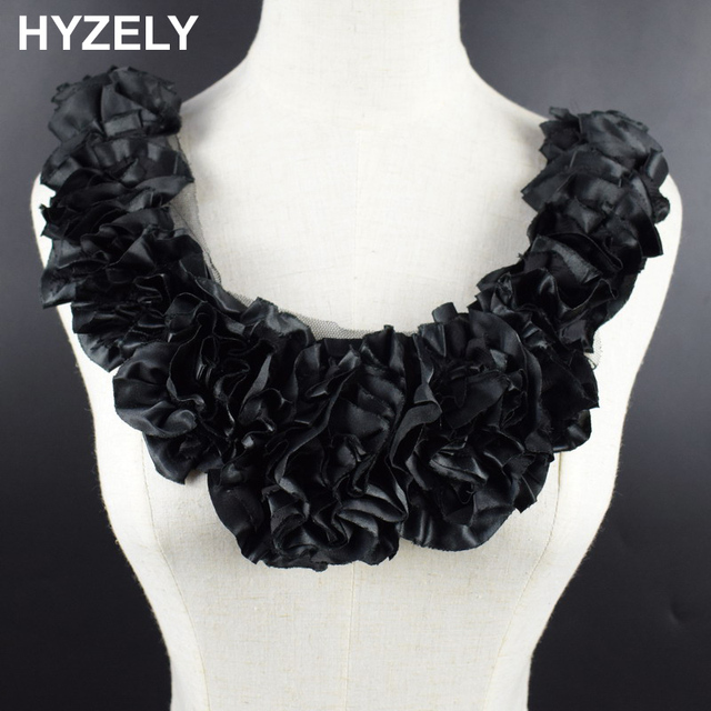 1pc Embroidery Lace Neckline Fabric dcd11794864e