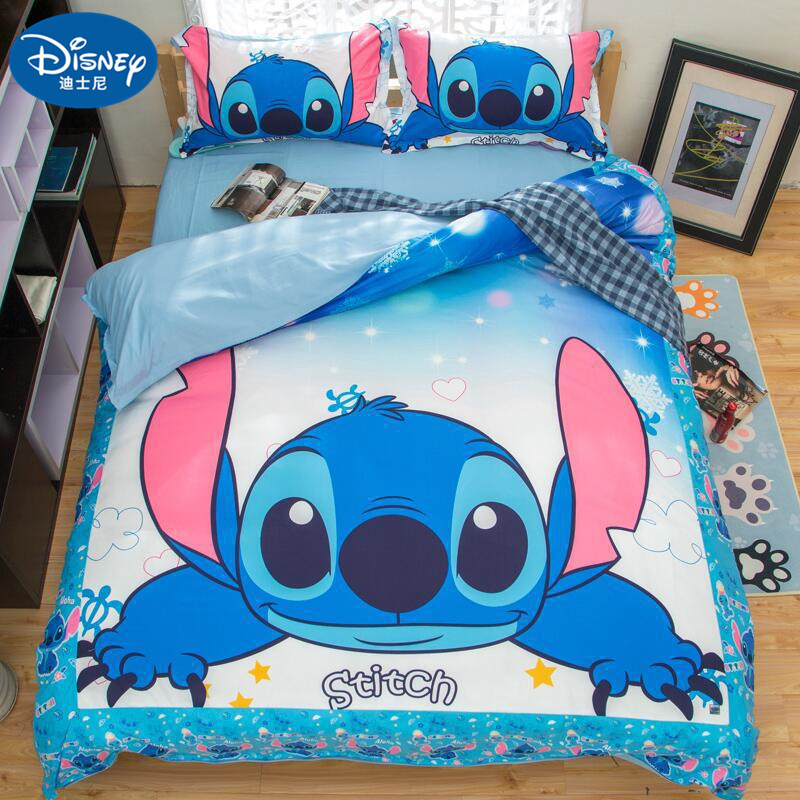 2019 New lilo and stitch bedding set single double twin full queen king size cartoon girls