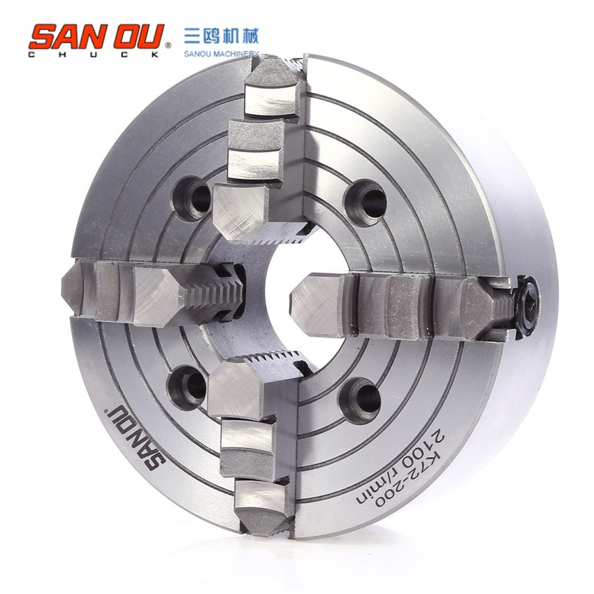 K72-80 4 Jaws Chuck 80mm Independent for CNC Lather Machine Welding Positioner Accessories  cnbtr silver 12 volt 44 rpm high torque worn geared motor with gear box