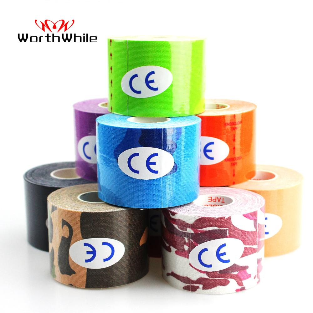 WorthWhile Kinesiology Tape Athletic Recovery Elastic Tape Kneepad Muscle Pain Relief Knee Pads Support for Gym Fitness Bandage(China)