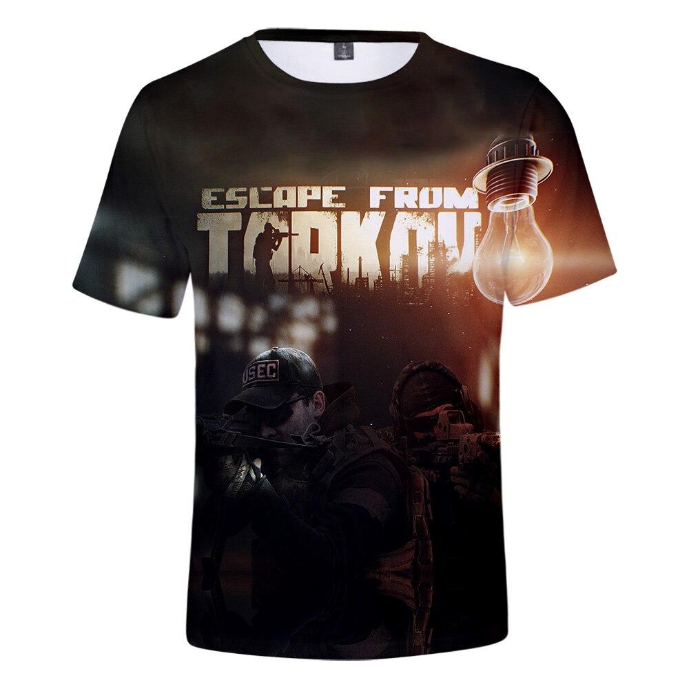 New Arrival Escape From Tarkov 3D T-shirt  Men/Women Escape From Tarkov 3D t shirt Short sleeve Summer Super Hot Online Game 1