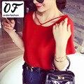 Vetement Femme Vermelho Tops Plus Size Manga Curta Blusa Gasa Mujer Bluse Verão Damas Kleding 2017 Chiffon Mulheres Camisas Blusa