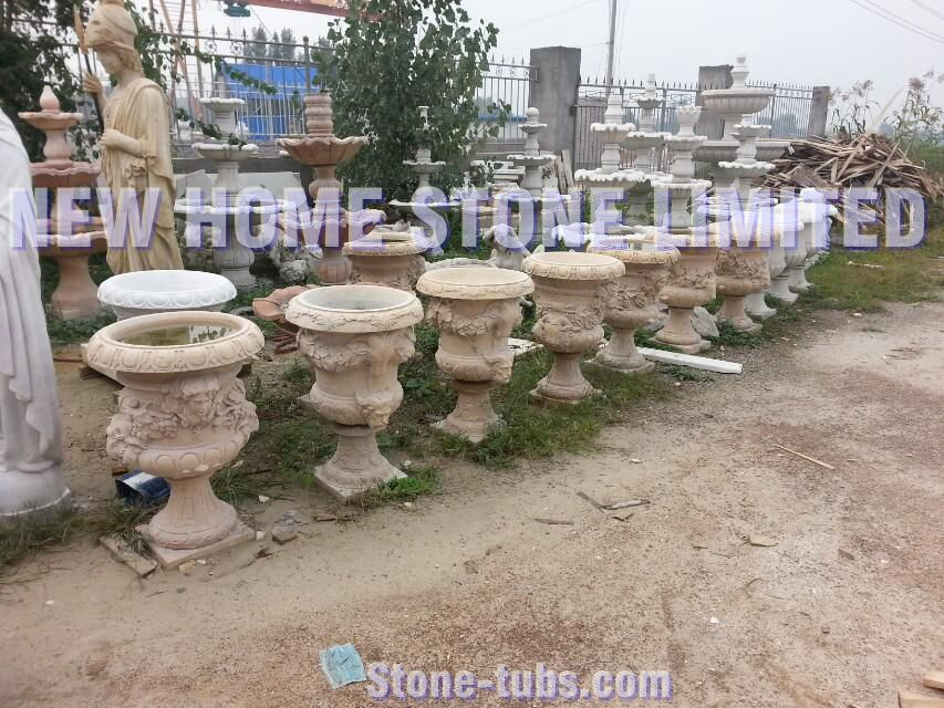 Hand Carved Stone Garden Planters And Urns Outdoor Decorative Gardenstone  Pots In Flower Pots U0026 Planters From Home U0026 Garden On Aliexpress.com |  Alibaba ...
