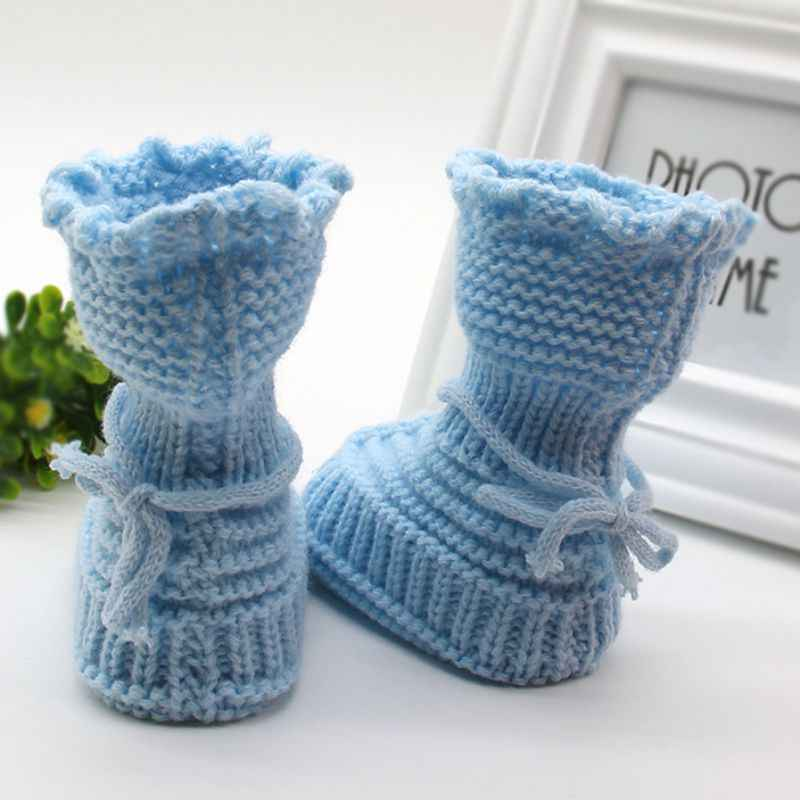 Handmade Newborn Baby Infant Boys Girls Crochet Knit Booties Casual Crib Shoe