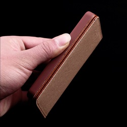 Solque real genuíno caso da aleta de couro para o iphone 5se se 5S 5 luxo magnético suporte inteligente magro capa para o iphone se litchi linhas