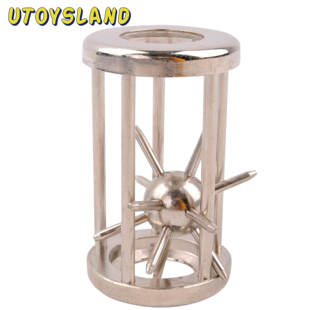 UTOYSLAND Trapped Satellite Metal Puzzle IQ Brain Teaser Disentanglement Game for Children Adults GH7102 3d wooden brain teaser puzzle colorful iq mind educational wood game toys for children adults