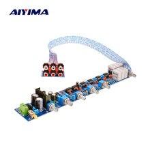 AIYIMA NE5532 Preamplifier Tone Bord HIFI Preamplifier 5.1 Volume Control Tone EQ Preamp For 5.1 Amplifier Diy AC15V 0 AC15V