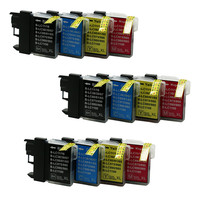 12x Compatible  Ink Cartridges LC980 LC985 LC975 For Brother MFC-5490CW MFC-5890CN MFC-6490CN MFC-6490CW MFC-6890CDW MFC-6890CN
