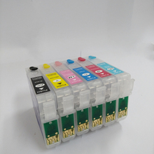 T0811 - T0816 Refillable ink cartridge For Epson t0811 Stylus photo R270 R390 RX590 R290 R610 RX690 T50 TX700W TX800W printer 600ml t0811 printer ink for epson refill ink for printer for epson stylus photo r390 rx590 r270 rx690 rx610 rx615 r290 r295 1410