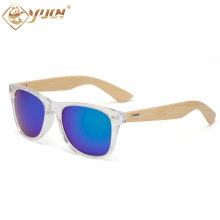 New hot transparent sunglasses high fashion handmade bamboo sun glasses coating mirror lens eyewear for men women  1501