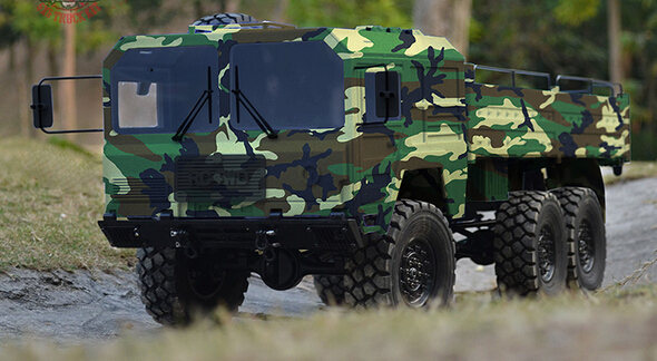 US $999 0 |1/14 scale BEASTI 6X6 CHASSIS W/ MILITARY SPEC HARD BODY 6WD  ROCK CRAWLER TRACTOR TRUCK KIT Compatible Cross Tamiya Axail SCX10-in Parts  &