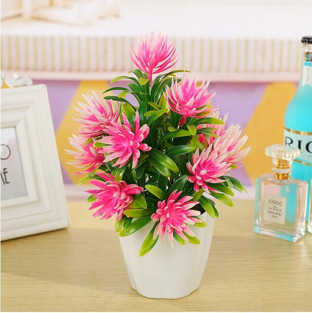 Us 10 85 11 Off Simulasi Buatan Bunga Plastik Bonsai Mini Tanaman Bonsai Kantor Pesta Pernikahan Home Furnishing Dekorasi Bonsai Tanaman Hijau In