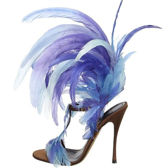 New Designer Feather High Heels Sandals Women Open Toe T-Strap Ankle Buckle Sandals Summer Ladies High Heels Dress Shoes summer new fashion blue purple feather straps women open toe sandals sexy t strap ankle buckle ladies high heels size42